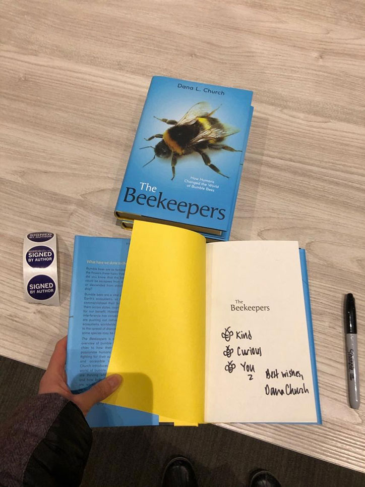 A signed copy of The Beekeepers