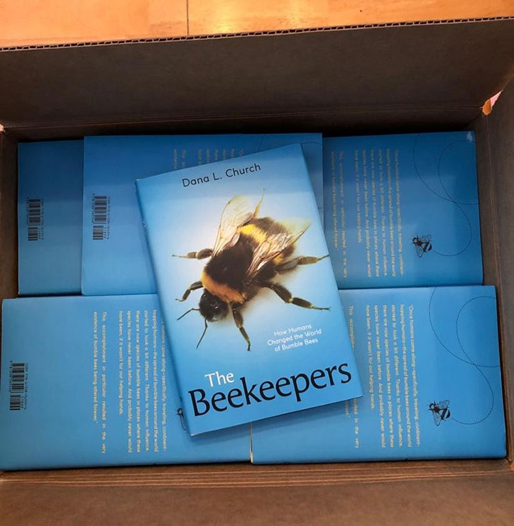 A box full of The Beekeepers books