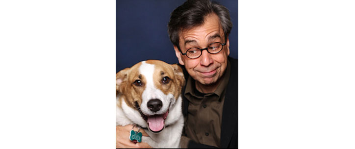 Image of author Chris Grabenstein and his dog Fred