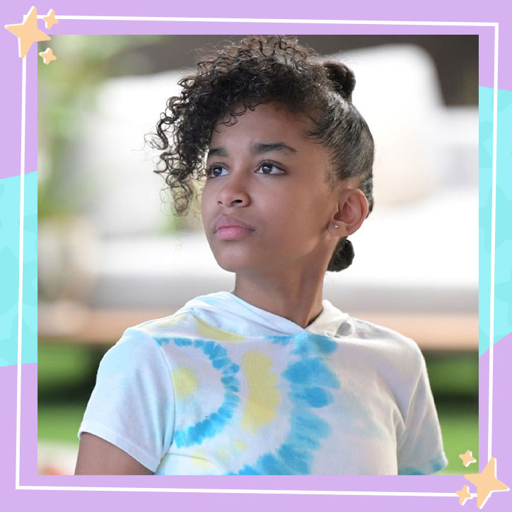 Jordyn Curet in character as Shamiah on the ABC series, Home Economics