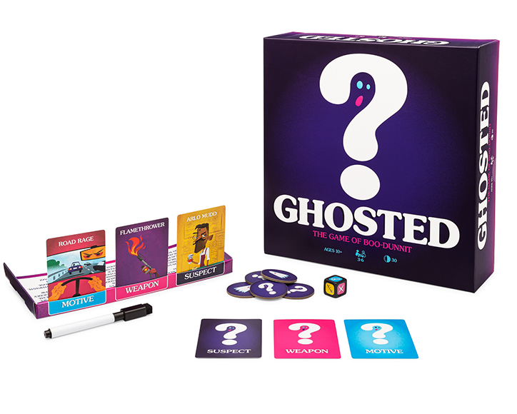 Ghosted Game, cards, and gameplay pieces