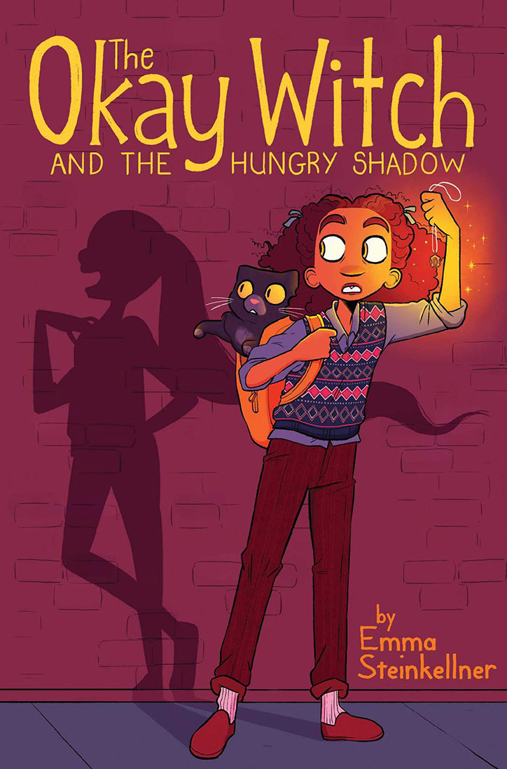 Book Cover for The Okay Witch and the Hungry Shadow Graphic Novel by Emma Steinkellner