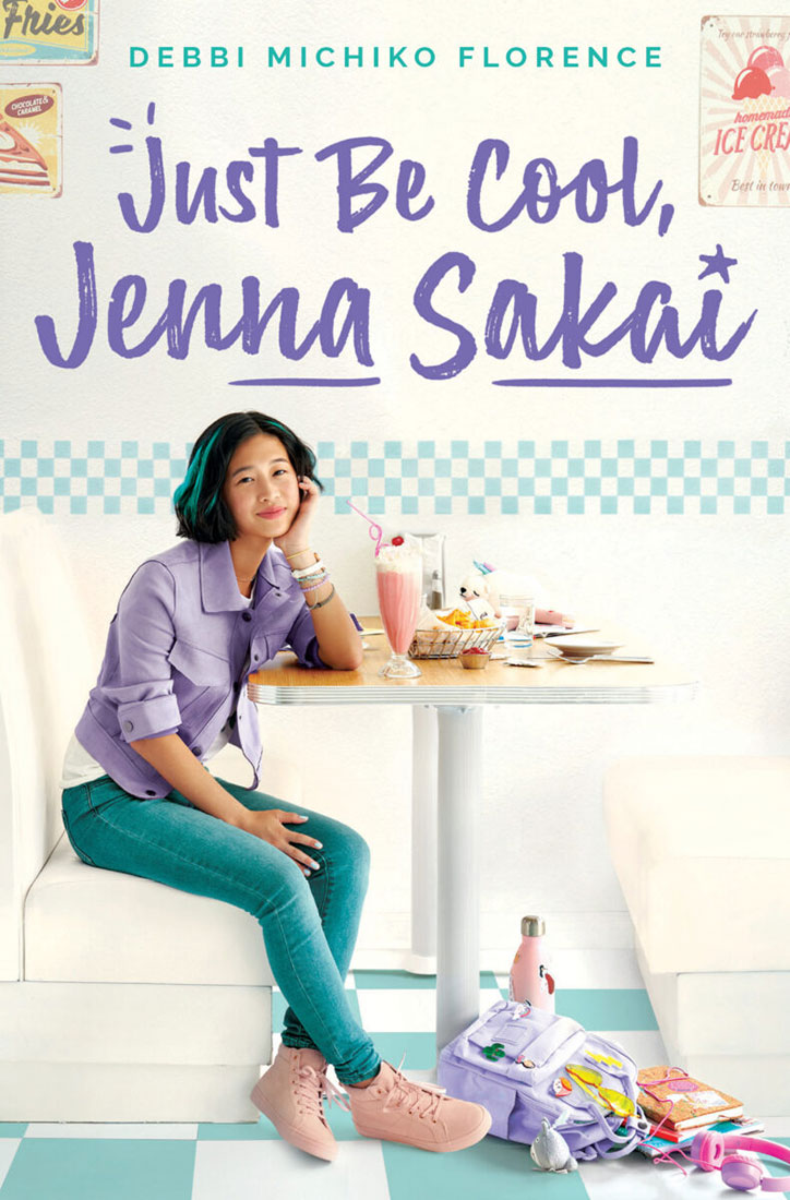 Book cover for Just Be Cool, Jenna Sakai by Debbi Michiko Florence