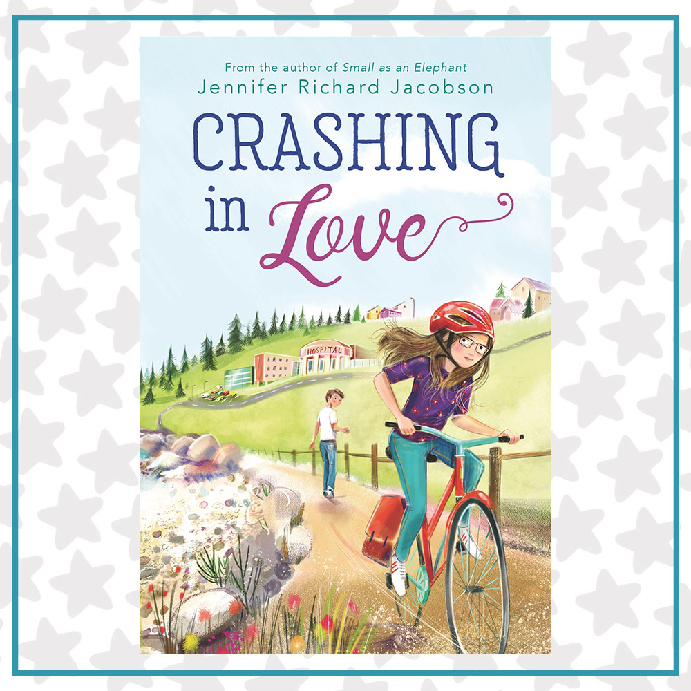 Book cover for Crashing in Love by Jennifer Richard Jacobson