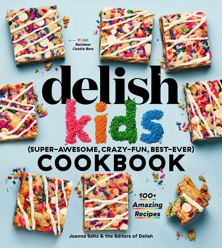 Book cover for the Delish Kids Cookbook