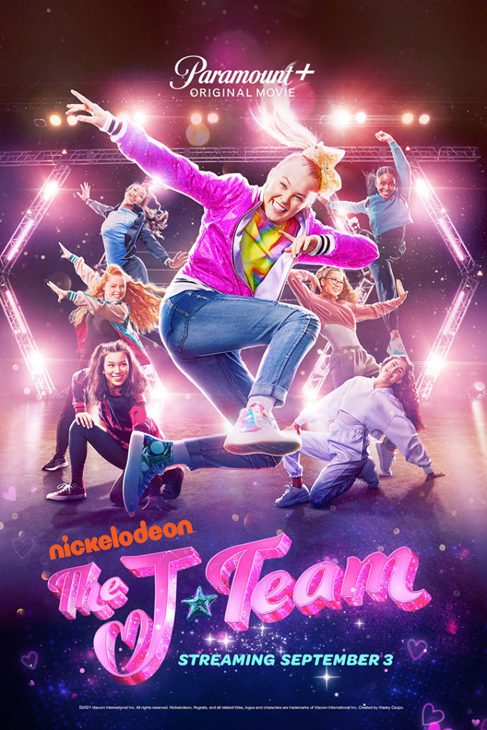 Poster for The J-Team featuring JoJo Siwa on Paramount+