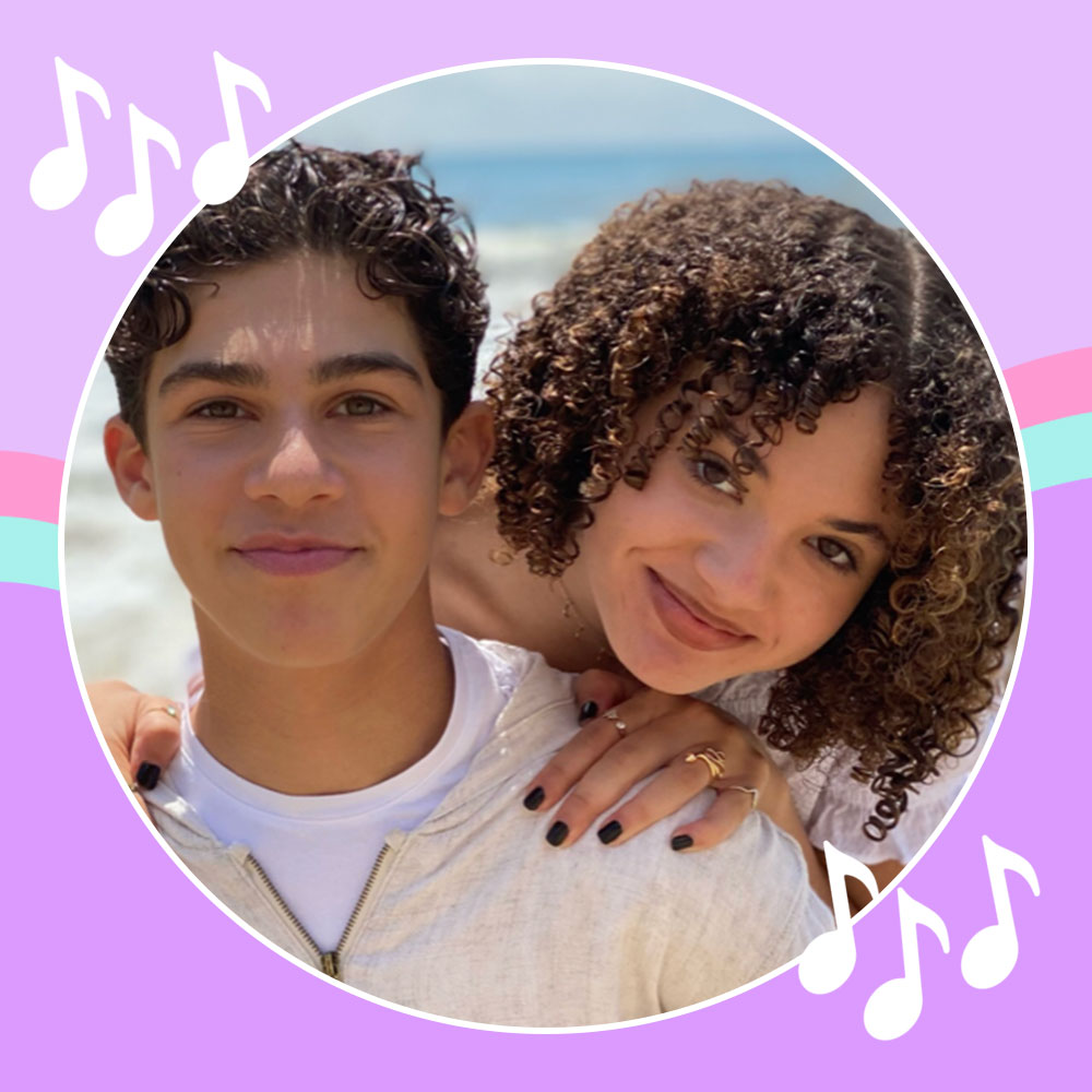 Jackson Dollinger and Scarlet Spencer on the beach while shooting the I'm Yours 2 Music Video.