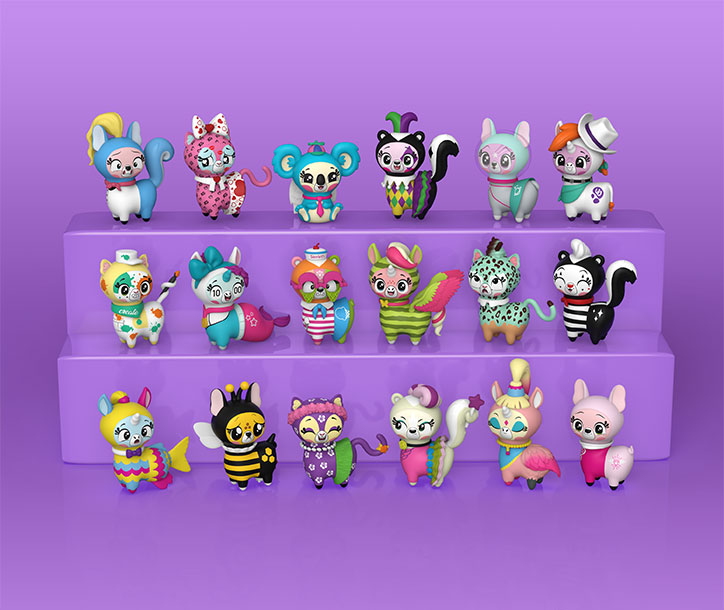 Display of all 18 Snapsies Series 2 Collectibles from Funko
