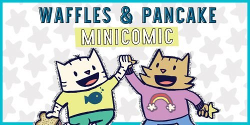 Waffles and Pancake Share Their Favorite Things in this EXCLUSIVE CatStronauts Inspired Minicomic
