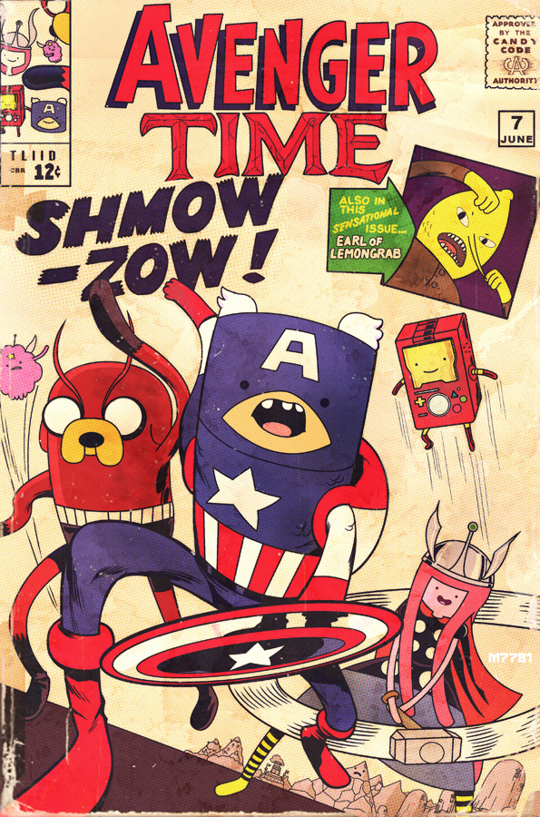 Adventure Time Avengers Mashup