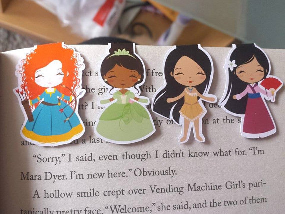 Mini Disney Princess Bookmarks