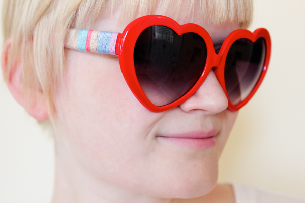 DIY Embroidery Floss Sunglasses